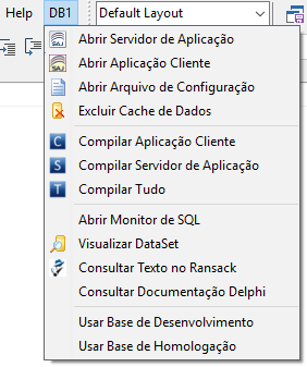 Exemplo de menu desenvolvido com o Open Tools API