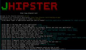Figura 1 - JHipster gerando uma aplicação