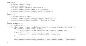 Código - Método Start, End e Result