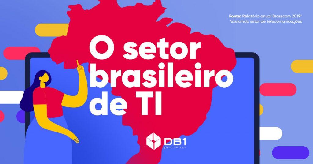 Ilustração sobre o mercado de TI no Brasil, no blog da DB1 Global Software